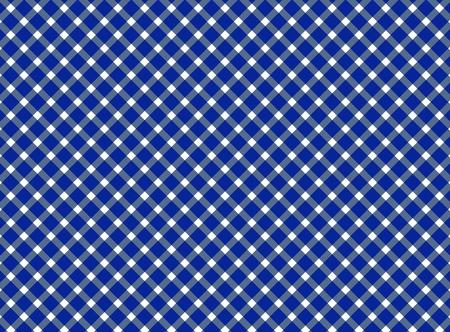 diagonal stripes: Retro tablecloth background with diagonal stripes blue white Stock Photo
