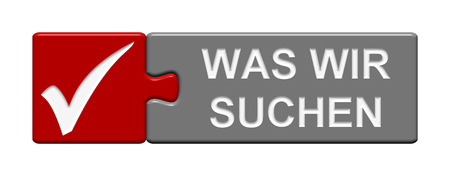 requirement: Puzzle Button of two puzzle pieces with symbol showing what we are looking for in german language