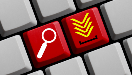 downloads: Search for downloads online - symbols on computer keyboard