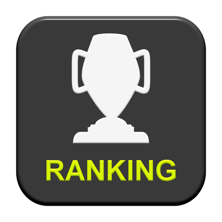 ranking: Modern isolated Button with Symbol showing ranking Stock Photo