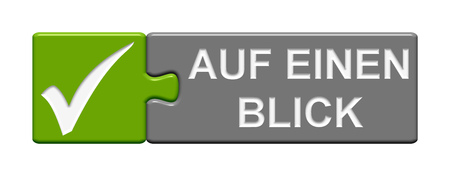 glance: Puzzle Button of two puzzle pieces with symbol showing at a glance in german language
