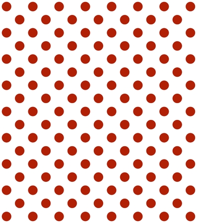 continuously: Traditional dotted wallpaper with red dots and white background