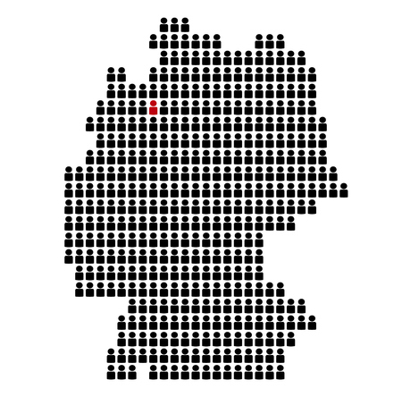 bremen: Map of Germany made of black Icons: State Bremen