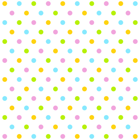 buzzer: Traditional dotted wallpaper with colorful dots and white background Stock Photo