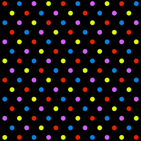 Dotted Wallpaper With Colorful Dots And Black Background Stock Photo