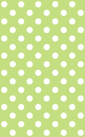 light green background: Traditional dotted wallpaper with white dots and light green background