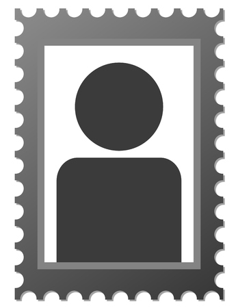 photo icon: Isolated dark placeholder image for Portrait