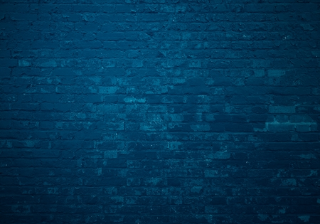 Old dark blue brick wall as background