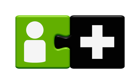 assume: Button Puzzle of two pieces is showing add friend