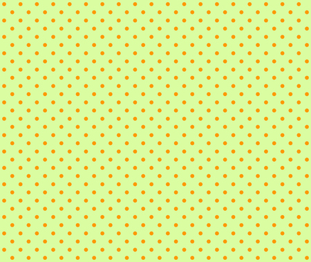 light green background: Seamless light green background with orange dots
