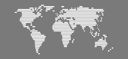 globally: Simple World Map with white bars