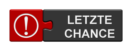 chances: Puzzle Button: Last chance in german language