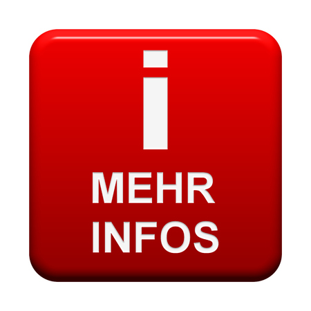 more information: Isolated red Button more information in german language