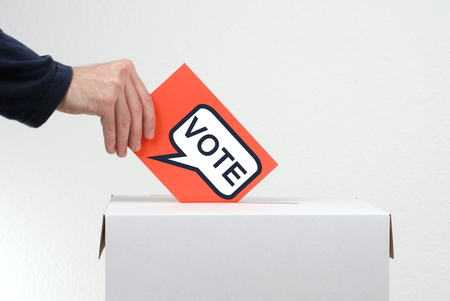 ballot papers: Vote - Election Stock Photo