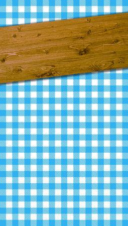 wooden beams: Checkered tablecloths pattern blue white with wooden beams