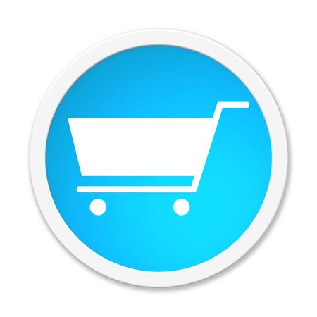 shopping cart icon: Button round Shopping Cart icon Stock Photo
