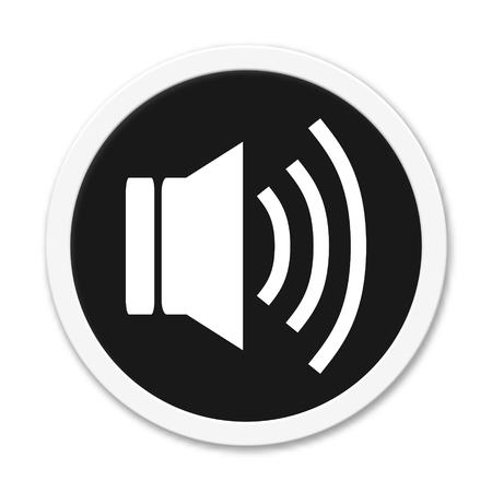 speaker icon: Round black button speaker