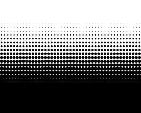 transition: Transition of black dots on white background