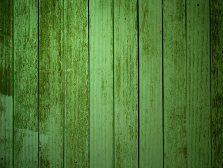 weathered: Weathered green old planks Stock Photo