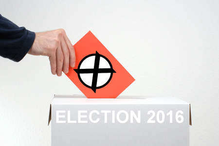 balloting: Elections in 2016 - Red Envelope and Box