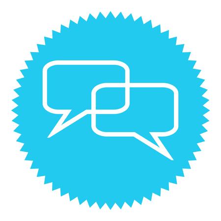 feedback sticker: Blue round Button shows dialog icon