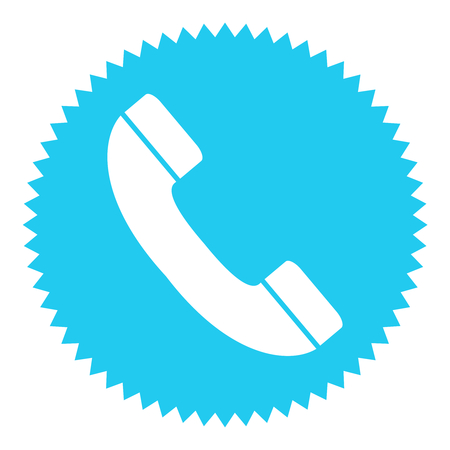 phone button: Blue round Button shows Phone Stock Photo
