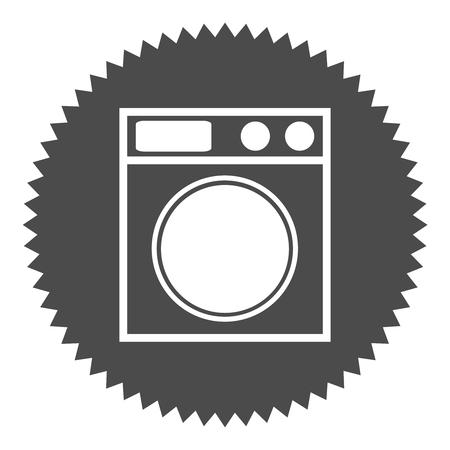 washer: Grey round Button shows washer Stock Photo
