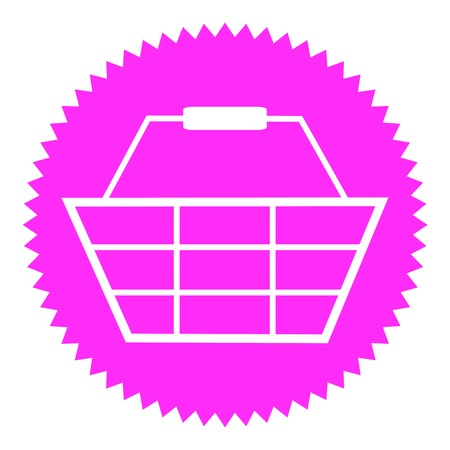 check out: Pink round Button shows Basket