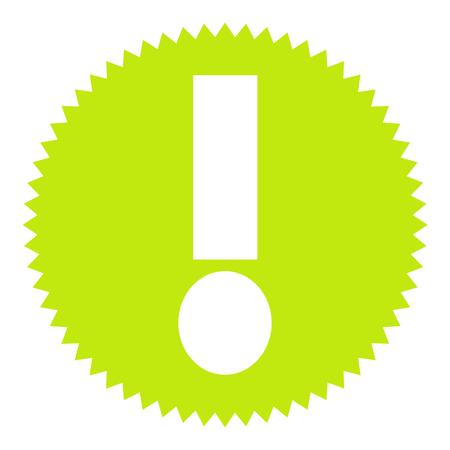 Green round Button shows Bang Фото со стока