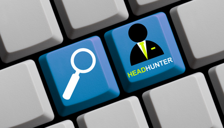 headhunter: Headhunter - Search for staff online Stock Photo