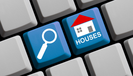 mortage: Search for Houses online - Symbols on Computer Keyboard