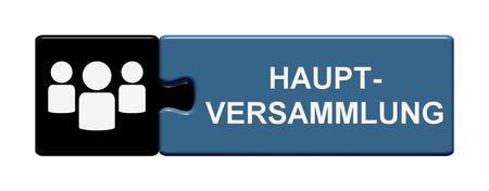 ドイツ語で年次総会を表示しているボタンをパズルします。