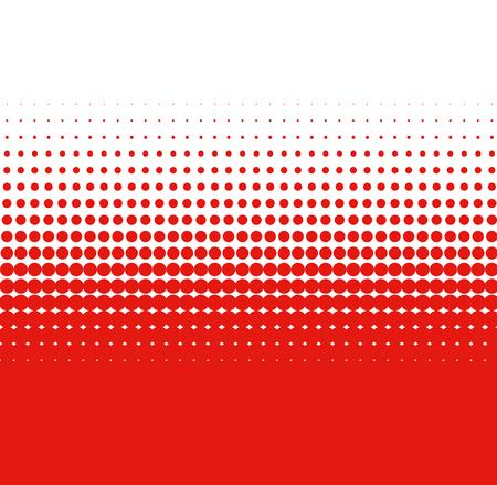 Color transition red white dots Reklamní fotografie