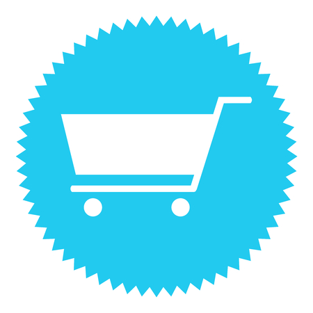exempted: Star button blue Store icon Stock Photo