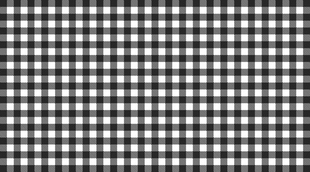 checkered tablecloth: Traditional checkered tablecloth pattern black and white Stock Photo