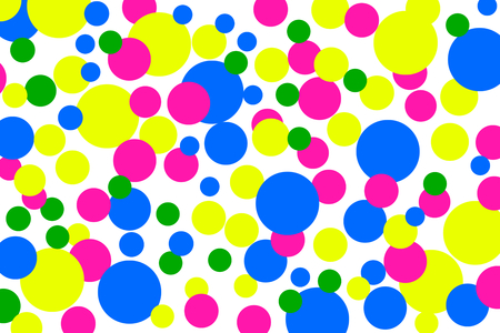 circles: Background with colorful circles on black background