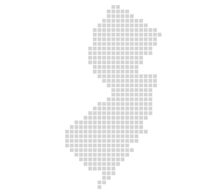 Isolated Map with grey pixels is showing Outline of New Jersey Stock fotó - 57339768