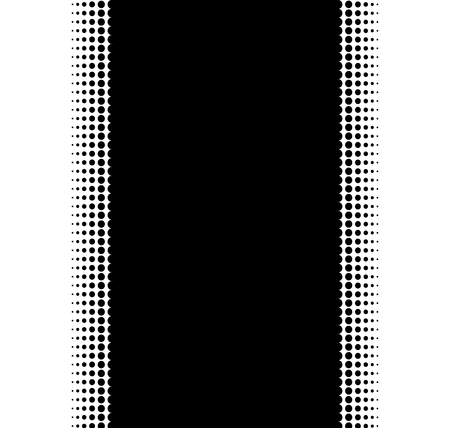 transition: Endless black Stripe with soft Transition made of dots Stock Photo