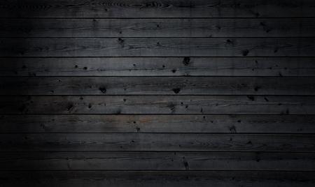 Tavole in legno parallele nero rustico Archivio Fotografico - 57386067