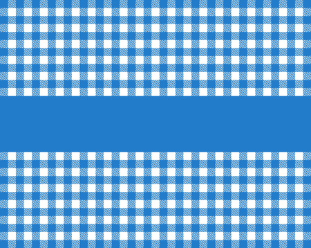 biergarten: Tablecloth pattern with stripe for text dark blue and white