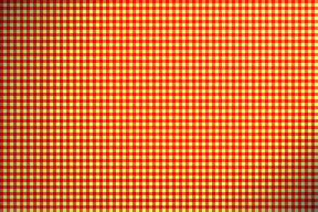 Red Yellow Checkered Tablecloth Pattern With Light Effect Stock Photo    57387790