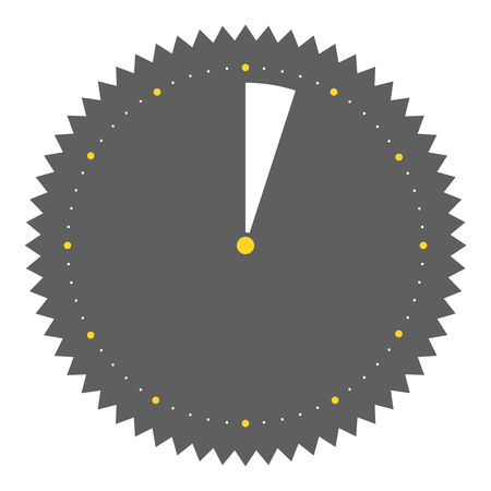 seconds: Isolated round grey Button with clock showing 3 seconds 3 minutes
