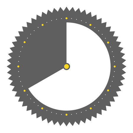40: Isolated round grey Button with clock showing 40 seconds 40 minutes or 8 hours