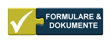 tax office: Isolated Puzzle Button with symbol is showing Forms and documents in german language
