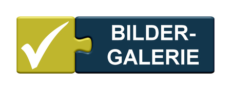 picture gallery: Isolated Puzzle Button with symbol is showing Picture Gallery in german language Stock Photo