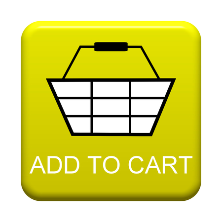 Yellow isolated Button with symbol showing Add to cart