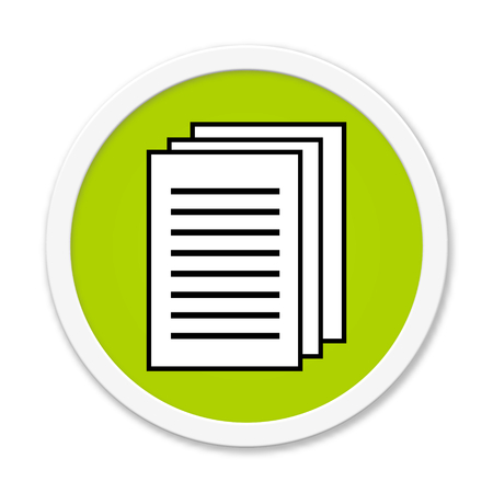 reading app: Isolated round button with Paper symbol