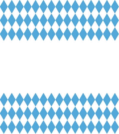 Blue White Bavarian Background with white copy space Stock Photo