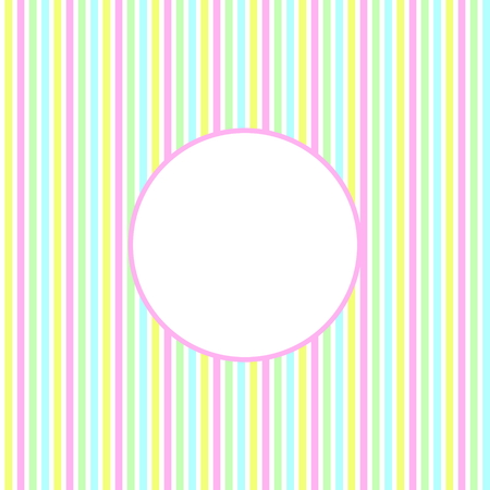 Faint striped background with white circle Stock Photo