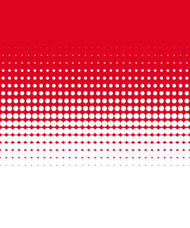 Halftone raster white with red dots